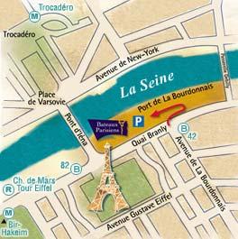 Bateaux Parisiens port map
